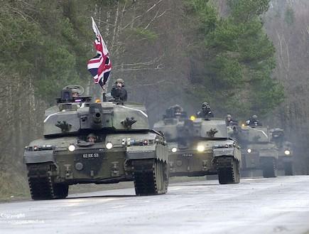 טנקים בריטים בגרמניה (צילום: צבא בריטניה)