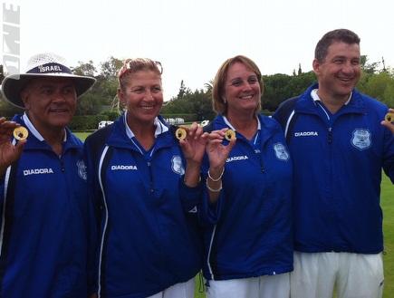נבחרת הזוגות המעורבים. מדליית ארד (יפה לוין) (צילום: מערכת ONE)