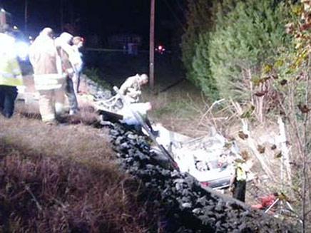 זירת התאונה בצפון קרוליינה (צילום: משטרת צפון קרוליינה)