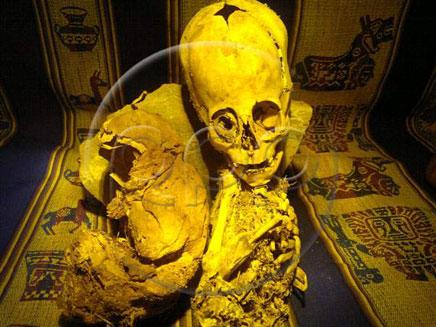 המומיה שהתגלתה בפרו (צילום: rpp.com)