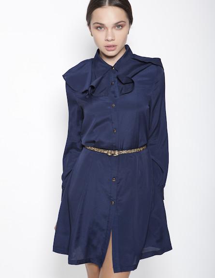 שמלת וינטג' מכופתרת וחורפית עם תוספת בד באיזור הכת (צילום: תום מרשק)