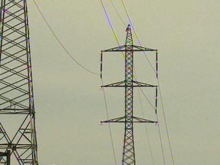 כבל מתח גבוה גבעת שמואל, עמודי חשמל (צילום: חדשות 2)