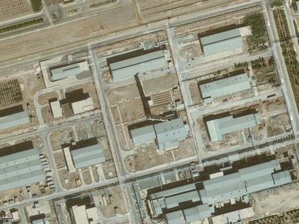 צילום של המתקן הגרעיני באיספאהן (צילום: google earth)