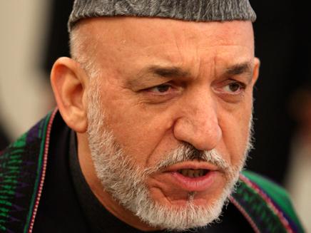 נשיא אפגניסטן, חמיד קרזאי (צילום: AP)