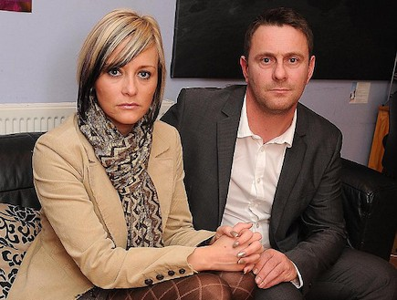 בני הזוג אוסטון - מרפאת הפוריות איבדה את הביציות (צילום: צילום מסך אתר dailymail)