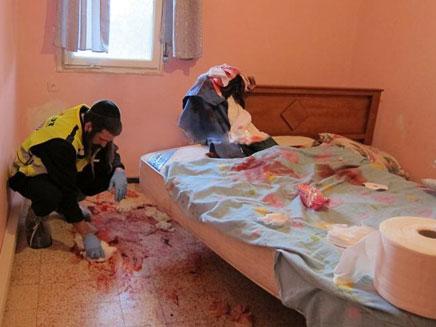 """דם בכל חדר השינה. זירת הרצח, היום (צילום: אהרן לייבוביץ', זק""""א)"""