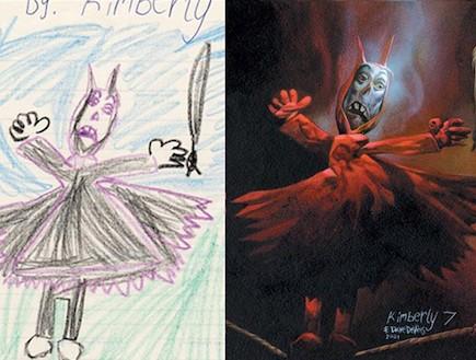 ציורי מפלצות (צילום: מתוך האתר amusing planet, Dave Devries)
