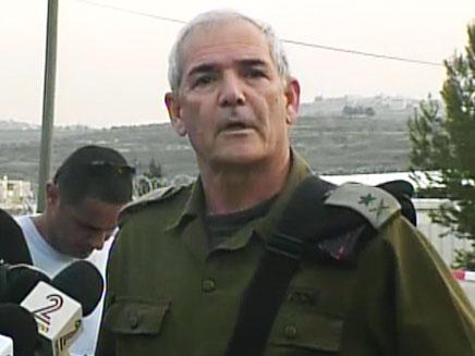 אלוף פיקוד מרכז אבי מזרחי (צילום: חדשות 2)