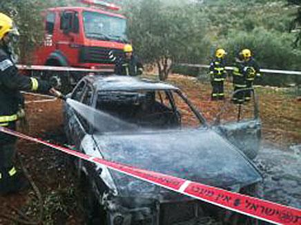 הרכב בו נשרף פעוט בן 5 (צילום: חדשות 2)