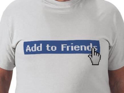 חולצת הוספת חבר בפייסבוק (צילום: zazzle.com)