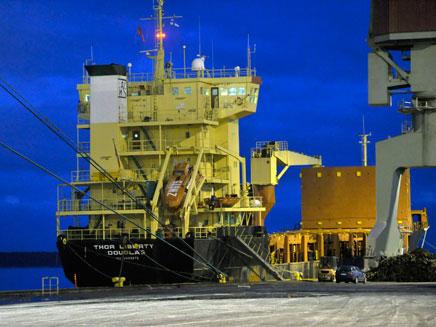 """""""ת'ור ליברטי"""", הספינה שנתפסה אמש (צילום: רויטרס)"""