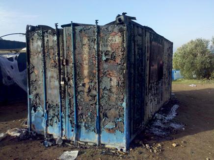 מי שרף את העתיקות? האתר שנשרף (צילום: דוברות רשות העתיקות)