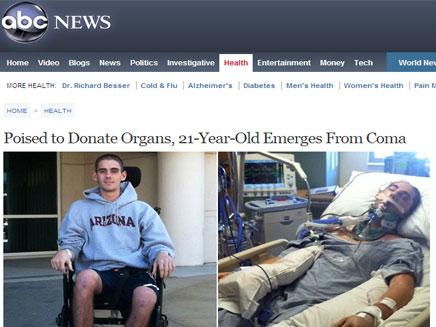גופתו כבר הוכנה לתרומת איברים, סם שמיד (צילום: רשת ABC)