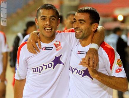 אחמד קאסום וחאמד גנאים. כוכבי הניצחון (יניב גונן) (צילום: מערכת ONE)