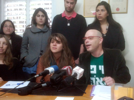 ליף וחברי התנועה (צילום: עזרי עמרם, חדשות 2)