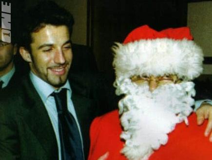 דל פיירו עם סנטה קלאוס. נכנס לנעליו (צילום: מערכת ONE)