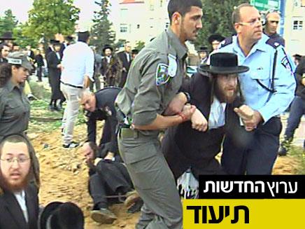 מהומות בבית שמש (צילום: חדשות 2)