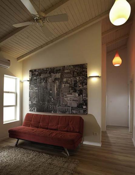 חדר טלויזיה אחרי שיפוץ - רוית ערמון (צילום: דודו אזולאי)