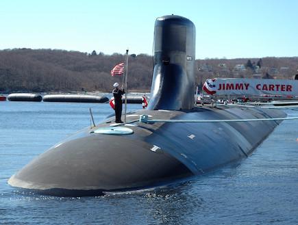 """ה""""ג'ימי קארטר"""" (צילום: חיל הים האמריקאי)"""