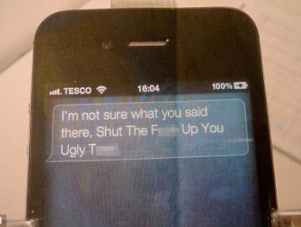 תגובתה הגסה של Siri (צילום: דיילי מייל)