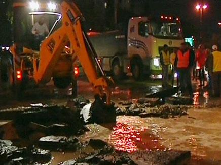 צפו בתמונות מדרך נמיר, הערב (צילום: חדשות 2)