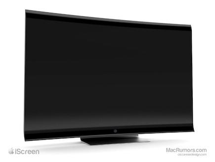 קונספט לטלוויזיה של אפל (צילום: Ciccaresedesign)