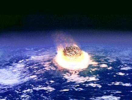 מטאור פוגע בכדור הארץ (צילום: ויקיפדיה)