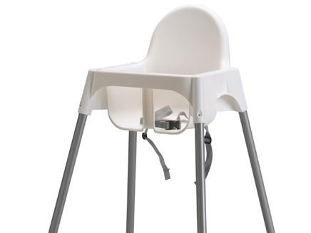 כיסא האוכל מדגם ANTILOP. זהירות (צילום: איקאה)