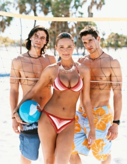 אישה עם שני גברים (צילום: Shutterstock)