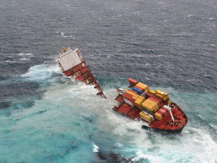 ספינת המשא שנפגעה (צילום: רויטרס)