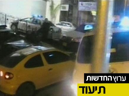 מהומות בנצרת עקב סגירת כביש (צילום: חדשות 2)