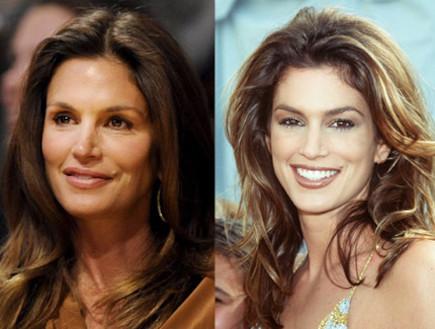 סינדי קרופורד - לפני ואחרי (צילום: צילום מסך מאתר dailymail)