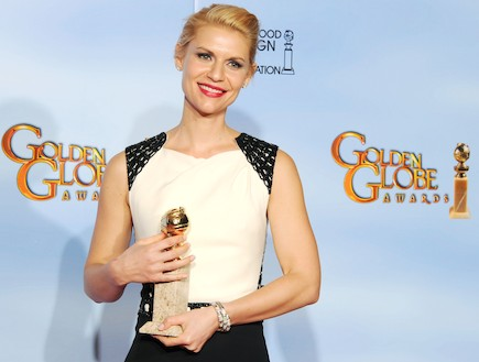 קלייר דיינס זוכה בגלובוס הזהב 2012 (צילום: Kevin Winter, GettyImages IL)