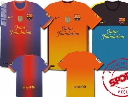 החולצות החדשות של בארסה לעונת 2012/13 (צילום: מערכת ONE)