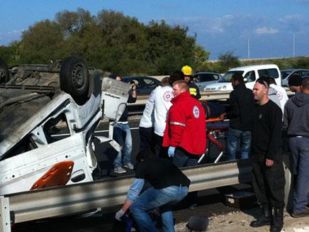 תאונת דרכים קשה בכביש החוף, ארכיון (צילום: גל גבעולי)