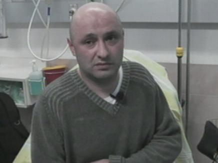 הנהג החבול בבית החולים (צילום: חדשות 2)