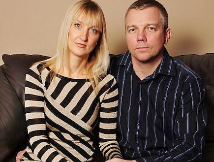 בני הזוג פארקר - טיפולי פוריות (צילום: צילום מסך אתר dailymail)