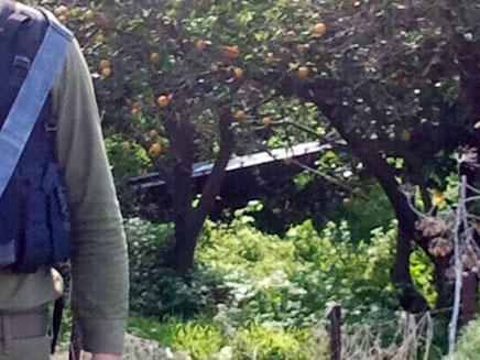 """המל""""ט שהתרסק ליד גדרה, בתחילת השנה (צילום: חדשות 2)"""