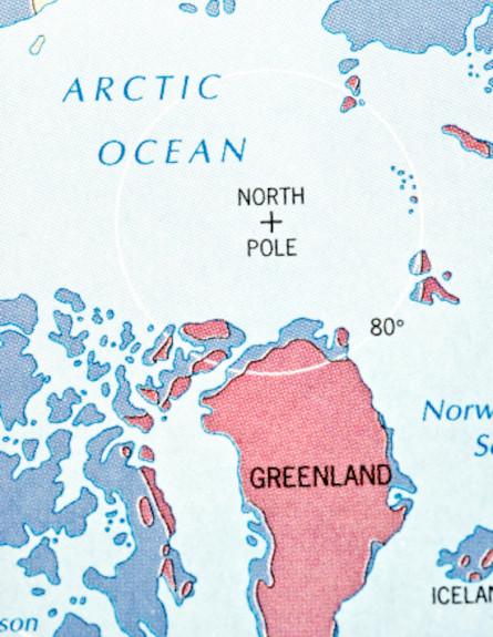 גרינלנד - מפה (צילום: אימג'בנק / Thinkstock)