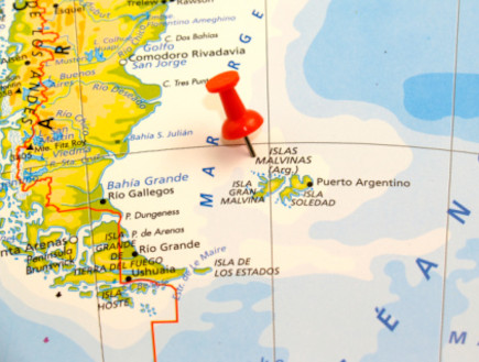 איי פוקלנד - מפה (צילום: אימג'בנק / Thinkstock)