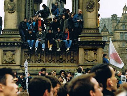 הפגנה סועת במנצ'סטר (צילום: ארכיון עיריית מנצ'סטר)
