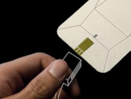 מינימל קומפקט: טלפון ביתי מתקפל מקרטון (צילום: gizmag)