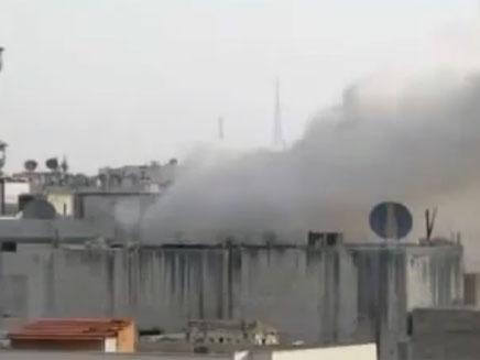 ירי ארטילרי לעבר פרברי דמשק, ארכיון (צילום: חדשות 2)