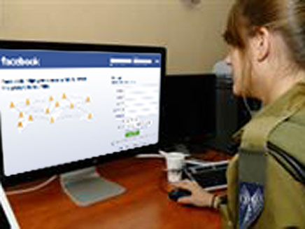 """צה""""ל נלחם בפייסבוק. אילוסטרציה (öéìåí: דובר צה""""ל)"""