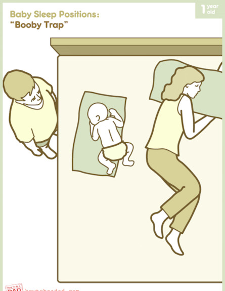 תנוחות שינה 5 (צילום: לקוח מאתר howtobeadad.com)