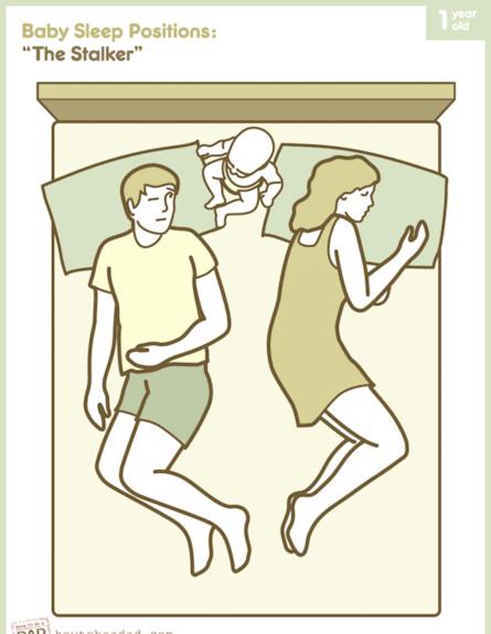 תנוחות שינה 2 (צילום: לקוח מאתר howtobeadad.com)