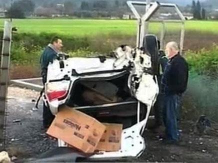 תאונת דרכים קשה. ארכיון (צילום: חדשות 2)
