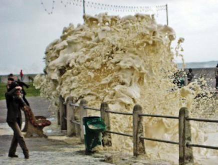 הים הפך לקפוצ'ינו (צילום: kuriositas.com)