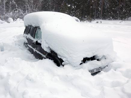הרכב הקפוא בשוודיה. הישרדות, גירסת המציאות (צילום: רויטרס)