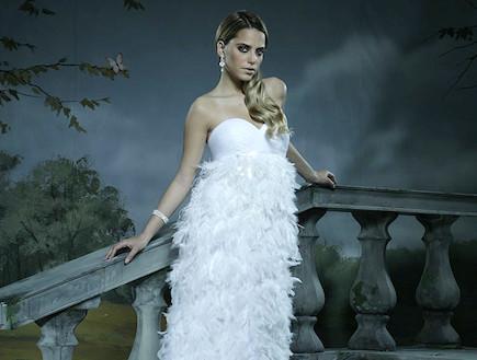 שמלה כלה של גלית לוי  (צילום: דביר כחלון)